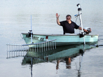 Lake Weed Harvester Boat
